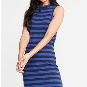 Old Navy. NWT. Jersey knit blue dress.